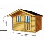 Skan Holz 28 mm Blockbohlenhaus Faro Zeichnung