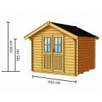 Skan Holz 28 mm Blockbohlenhaus Palma Zeichnung