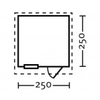 Skan Holz 28 mm Blockbohlenhaus Porto Grundriss Größe 2
