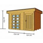 Skan Holz 28 mm Blockbohlenhaus Venlo3 Zeichnung