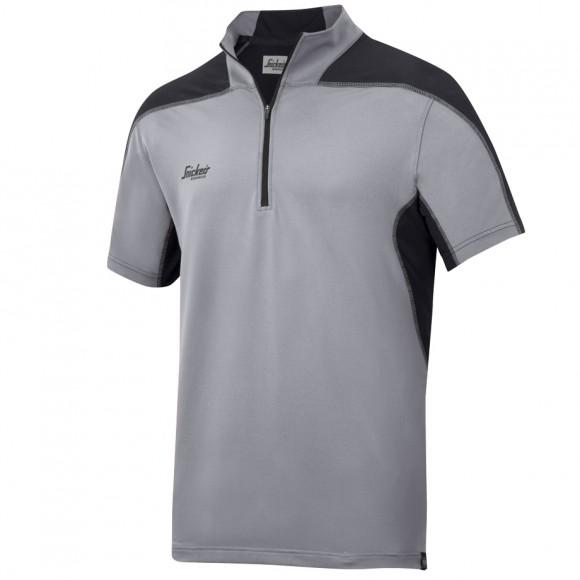 Snickers Workwear 2716 A.V.S. Body Mapping Polo Shirt, Grau - Schwarz