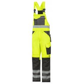 Snickers Workwear 0113 Warnschutz Latzhose - Signalgelb-Anthrazit/Schwarz (6674)