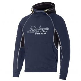 Snickers 2815 Kapuzensweatshirt mit Logo in Navy-Schwarz