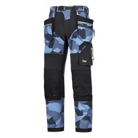 Snickers Workwear 6902 FlexiWork Arbeitshose+ mit Holstertaschen - 8604 Blau-Camo/schwarz