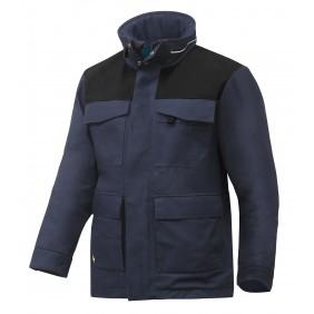 Snickers Workwear 1101 RuffWork 37.5® gefütterter Arbeitsparka - navy/schwarz (9504)