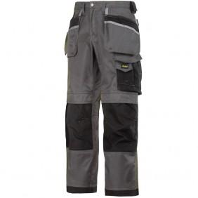 Snickers, Workwear, 3212 DuraTwill Hose, Arbeitshose, Berufsbekleidung, Arbeitskleidung, Handwerker Hose, Stahlgrau-Schwarz
