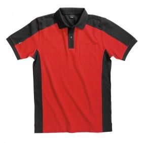 FHB Konrad 91490 Polo-Shirt rot-schwarz