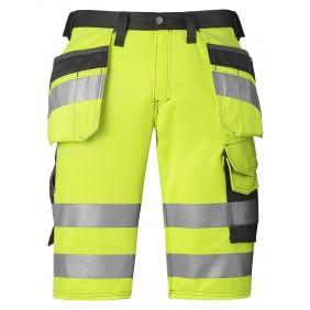 Snickers 3033 Hi-Vis Shorts, Klasse 1 - Signalgelb / Anthrazit-Schwarz (6674)