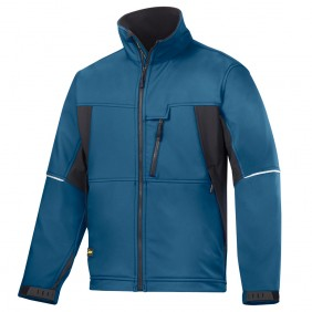 Snickers, 1212 Soft Shell Jacke ohne Kapuze, Arbeitsjacke, Snickers Workwear,Winterjacke, Ozean Blau - Schwarz