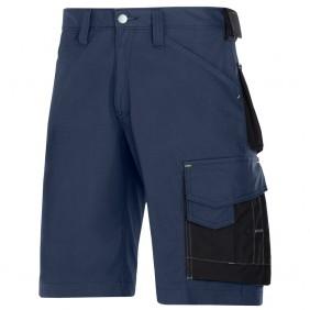 Snickers 3123 Rip-Stop Handwerker Shorts, Navy - Schwarz