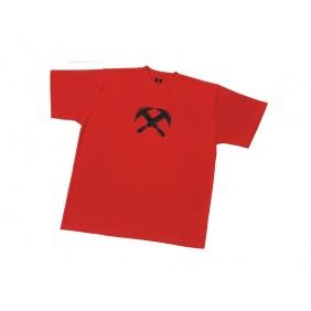 """FHB Till 90420 T-Shirt Zunftsymbol """"Dachdecker"""", Rot"""