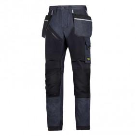 Snickers Workwear 6205 RuffWork Denim Arbeitshose mit Holstertaschen, Denim-Schwarz