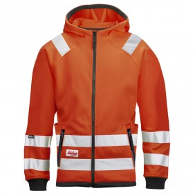 Snickers Workwear 8033 High-Vis Mikro Fleecejacke, Klasse 3