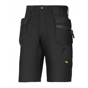 Snickers Workwear 6101 LiteWork 37.5 Arbeitsshorts+ - Schwarz/Schwarz (0404)