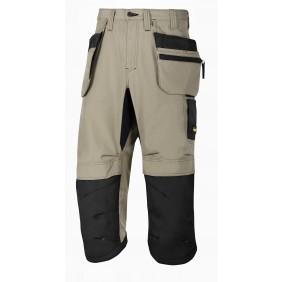 Snickers Workwear 6103 LiteWork 37.5 Piratenhose+ - Khaki-Schwarz (2004)
