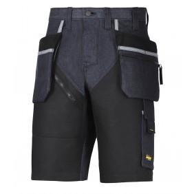 Snickers Workwear 6104 RuffWork Denim Arbeitsshorts+ - Denim/Schwarz (6504)