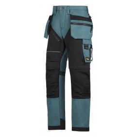 Snickers Workwear 6202 RuffWork Arbeitshose+ - Petrol-Schwarz (5104)