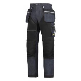 Snickers Workwear 6204 RuffWork Denim Arbeitshose+ - Jeans-Schwarz (6504)