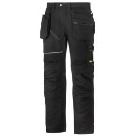 Snickers Workwear 6215 RuffWork Baumwoll Arbeitshose+ mit Holstertaschen - schwarz/schwarz (0404)