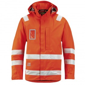 Snickers Workwear 1973 High-Vis Wasserdichte Jacke, Klasse 3