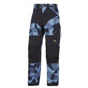 Snickers Workwear 6903 FlexiWork Arbeitshose+ - Navy Camouflage-Schwarz (8604)