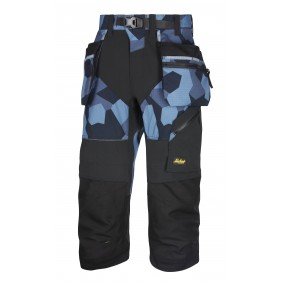 Snickers Workwear 6905 FlexiWork Piratenhose+ - Navy Camouflage / Schwarz (8604)