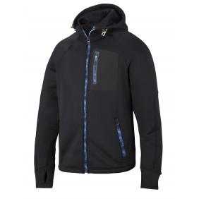 Snickers Workwear 8000 FlexiWork Stretch-Fleece Arbeitsjacke mit Kapuze - schwarz/schwarz (0404)