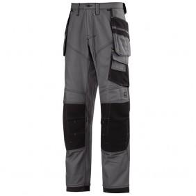 Snickers Workwear 3244 XTR Canvas+™ Hose - Stahlgrau / Schwarz (5804)