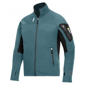 Snickers 9438 Body Mapping Mikro Fleece Jacke - petrol (5100)