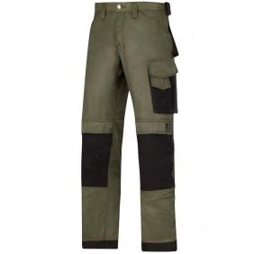 Snickers Workwear 3312 DuraTwill™ Hose, Olivgrün-Schwarz 3204