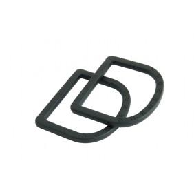 Dunderdon D RIng Schnalle schwarz DW8003011000