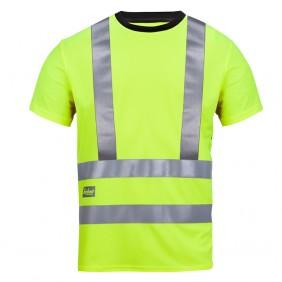 Snickers 2543 High_Vis A.V.S. T-Shirt, Klasse 2/3, signalgelb