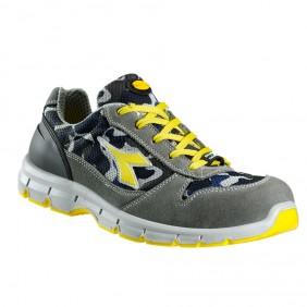 Diadora Run Textile S1P Sicherheitsschuh grau-blau