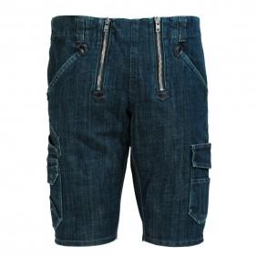 FHB Volkmar 22635 Stretch-Jeans-Zunft-Bermuda, Schwarzblau