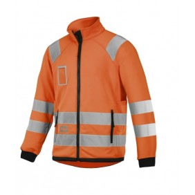 Snickers Workwear 8063 Warnschutz Micro Fleece Jacke, Klasse 3 orange