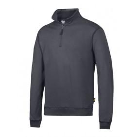 Snickers Workwear 2818 Sweatshirt Troyer stahlgrau 5800