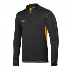 Snickers Workwear 9422 37,5™ Troyer mit Langarm schwarz/senf