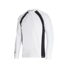 Snickers 2402 Langarm T-Shirt Farbe aschgrau-navy 0795