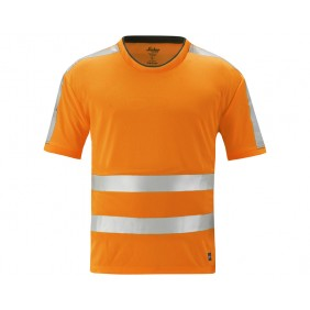 Snickers 2533 Hi-Vis A.V.S T-Shirt, Klasse 2/3 Farbe signalorange 5500