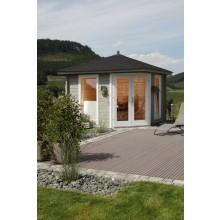 Wolff Finnhaus Gartenhaus 5-Eckhaus Katrin 58-A/B/C Sparset inkl. Dachschindeln/Dachhaube