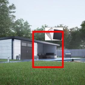 Wolff Finnhaus Lounge-Anbau für Metallgerätehaus Eleganto