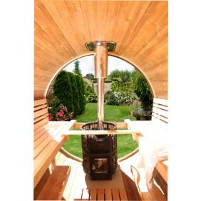 Wolff Finnhaus Rundglas für Saunafass de luxe