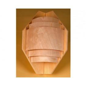 Wolff Finnhaus Sauna-Ecklampe mit Abschirmung