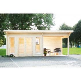 Wolff Finnhaus Gartenhaus Hammerfest 70-A isolierverglast