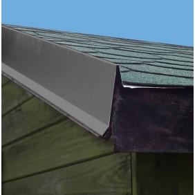 Aluminium Giebel/Ortgang-Abdeckung mit Wasserfalz für Satteldach-Gartenhäuser anthrazit (1 Stück)