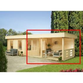 Wolff Finnhaus Terrassenanbau-Set für Gartenhaus Maja 40-A, 40-B/1-Raum und B/2-Raum