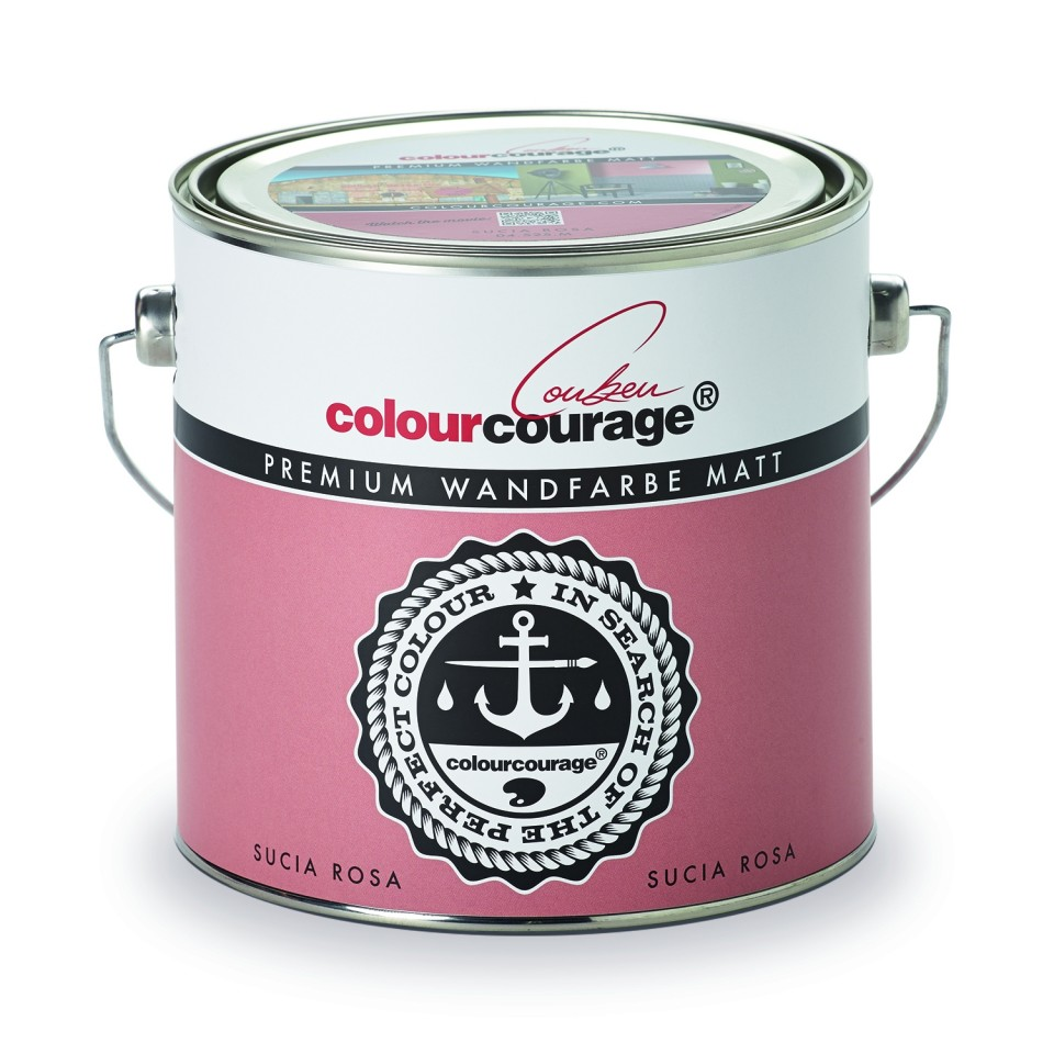 Colourcourage® Premium Wandfarbe Matt Sucia Rosa (. Loading Zoom