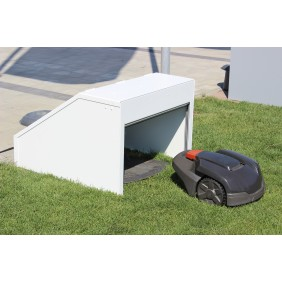 Working Robots Mower-Garage Design Alu/Color - weiß
