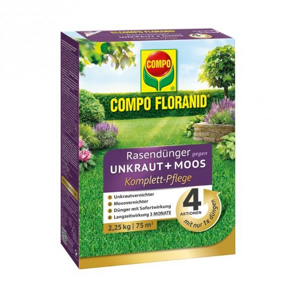 COMPO FLORANID® Rasendünger Gegen Unkraut+Moos Komplett Pflege