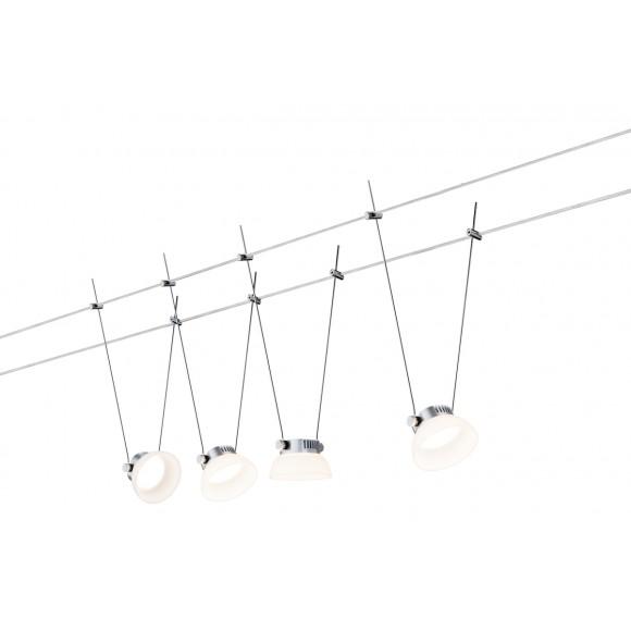 Smart Seilsystem IceLED 4x4W DC Chrom matt mit Weißlichtsteuerung